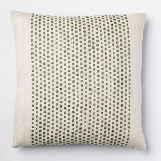Embroidered Dot Silk Pillow West Elm