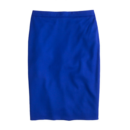 Pencil Skirt in Super 120s J.Crew