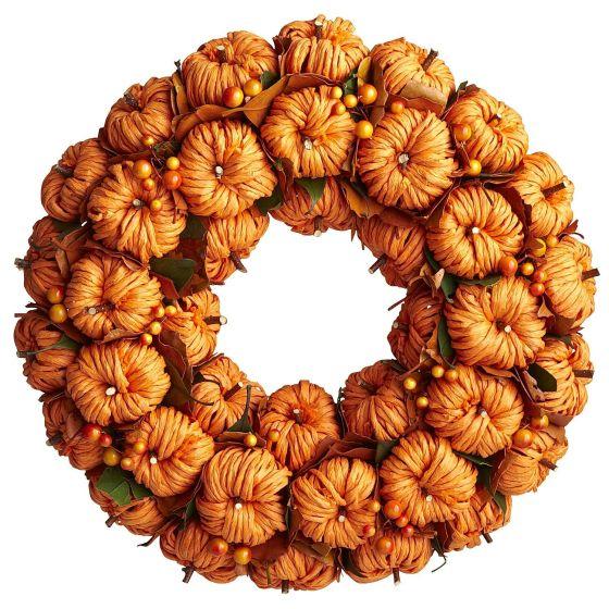 Faux Pumpkin Wreath Pier 1