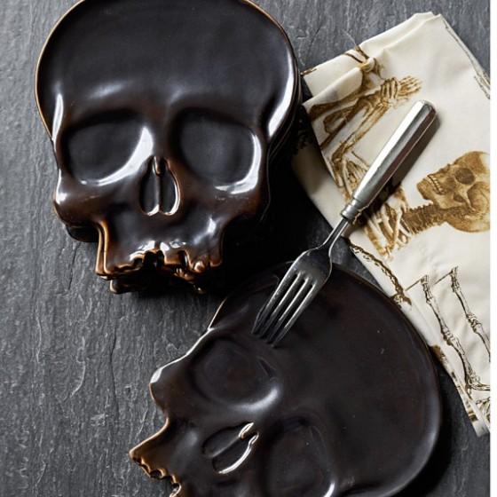 Halloween Skull Plates Williams Sonoma