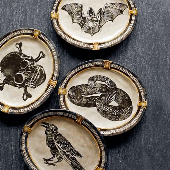 Halloween Medallion Plates Williams Sonoma