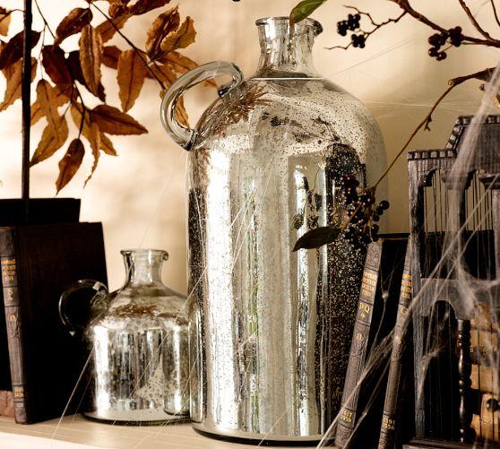 Mercury Glass Jugs Pottery Barn