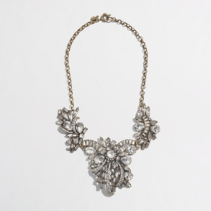 Crystal Corsage Necklace J.Crew Factory
