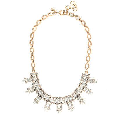 CRYSTAL RECTANGLES NECKLACE J.Crew