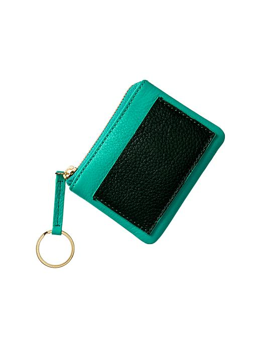 Colorblock Leather Card Case GAP $19.95
