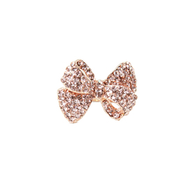 Champagne Bow Pave Ring T&J Designs