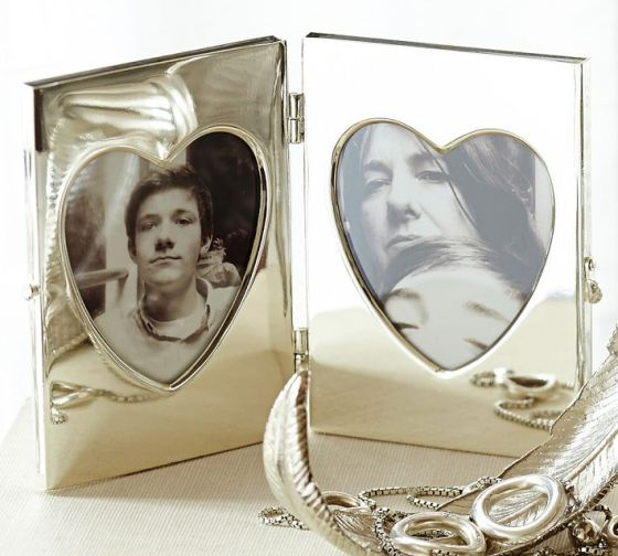 Silver-Plated Heart Locket Frame