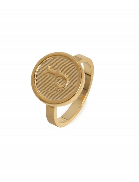Initial Signet Ring - Letter J BaubleBar