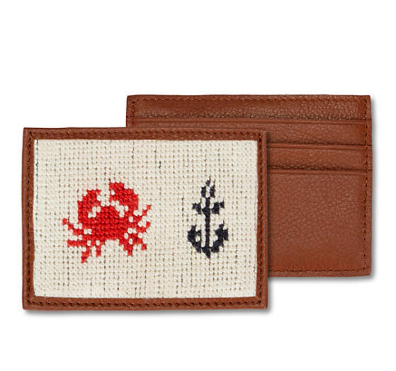 Needlepoint Crab Card Case