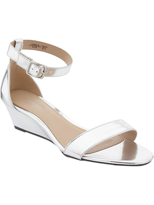 Old Navy Women's Metallic Wedge Sandal
