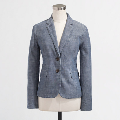 J.Crew Factory Keating boy blazer in chambray