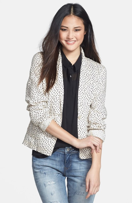 Nordstrom Caslon Linen One-Button