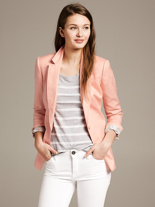 Banana Republic Cotton / Linen Blazer